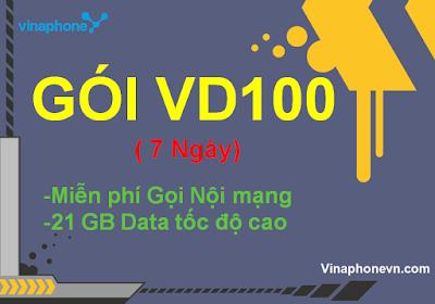 Miễn phí 21Gb data, Gọi không tốn tiền khi đăng ký gói VD100 của Vinaphone! Vinaphonevn.com