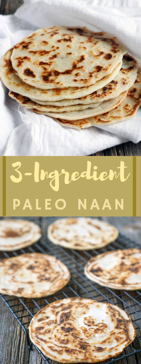 3 Ingredient Paleo Naan #paleo #diet