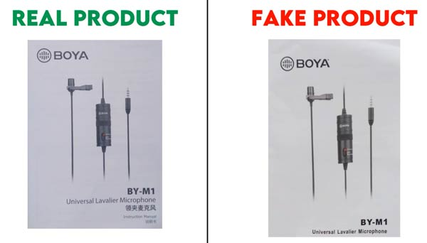 How to check Boya BY-M1 mic Authenticity?