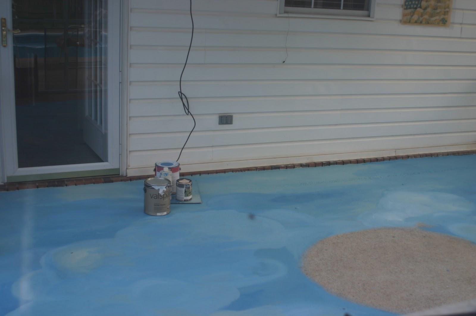 Painting a concrete patio: Painting Concrete Patio-Day 2