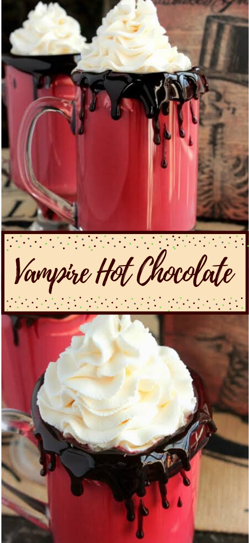 Vampire Hot Chocolate  #healthydrink #easyrecipe #cocktail #smoothie