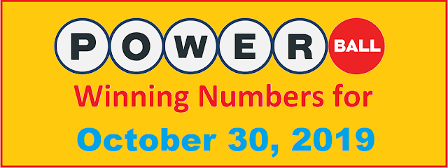 PowerBall Winning Numbers for Wednesday, October 30, 2019