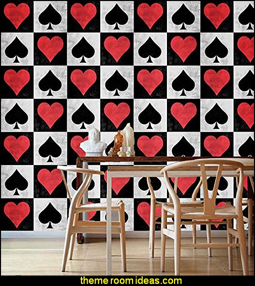 Wall Tiles Art Decoration Stickers Spades and Hearts