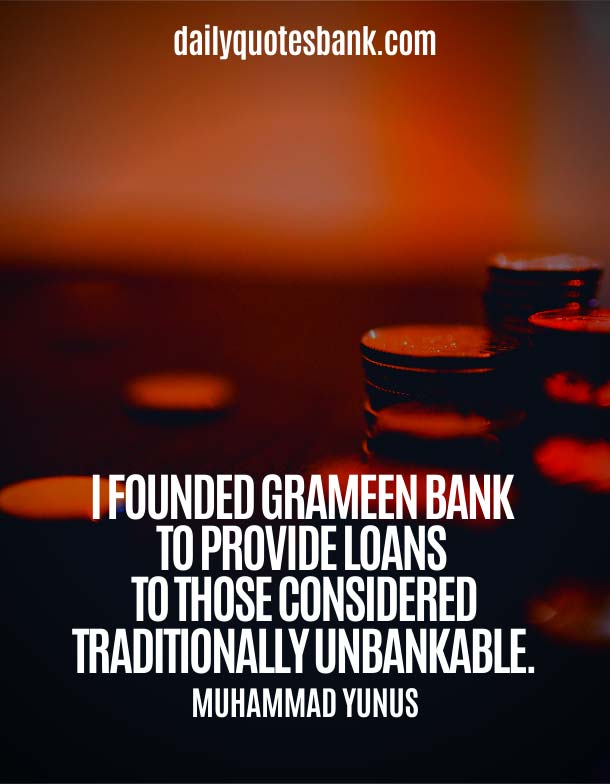 Inspirational Quotes About Banking