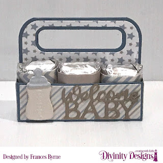 Divinity Designs Custom Dies: Candy Carrier, Baby Blessings, Paper Collection: Baby Boy
