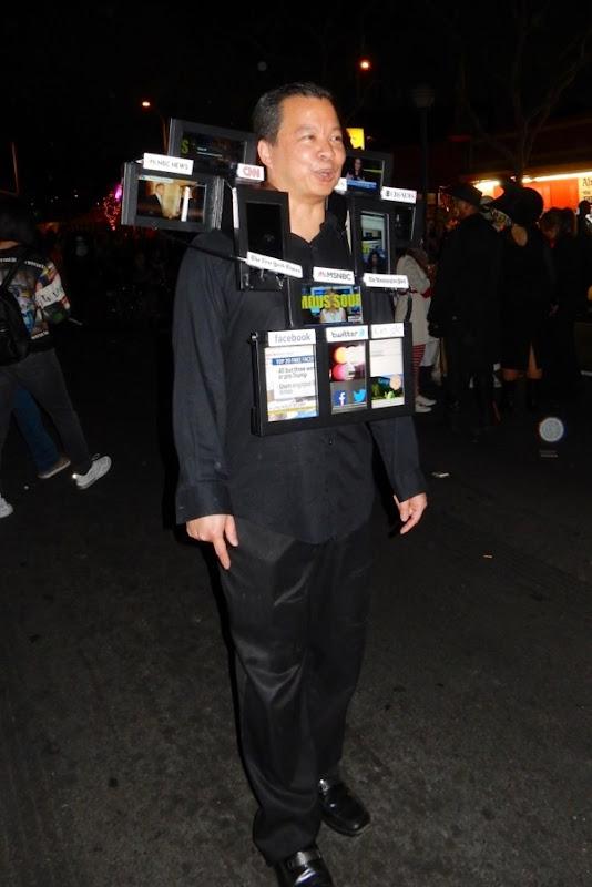 West Hollywood Halloween Fake News Media costume