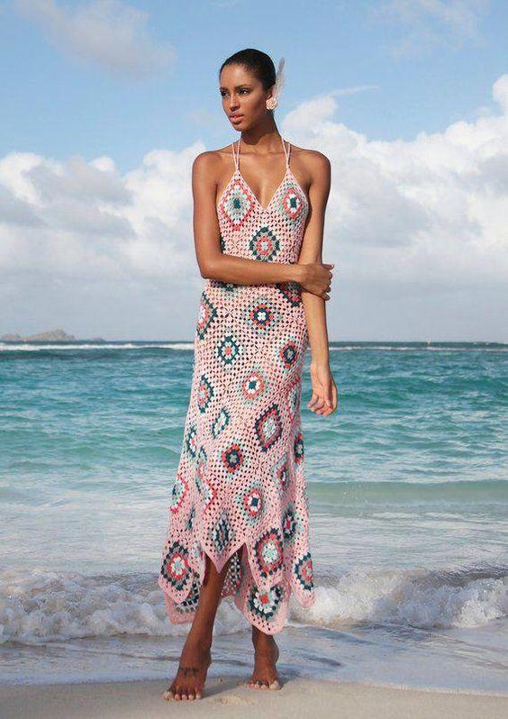 plażowe sukienki szydełkiem