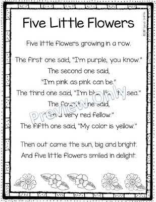 https://www.teacherspayteachers.com/Product/Five-Little-Flowers-Printable-Flower-Poem-for-Kids-3036179