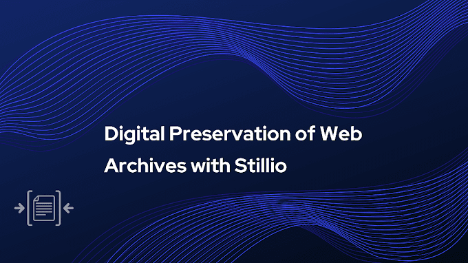 Digital Preservation of Web Archives with Stillio