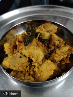 Simple, Low-oil and very healthy Yam (Sooran or Jimikand) Recipe-Njkinny's Blog