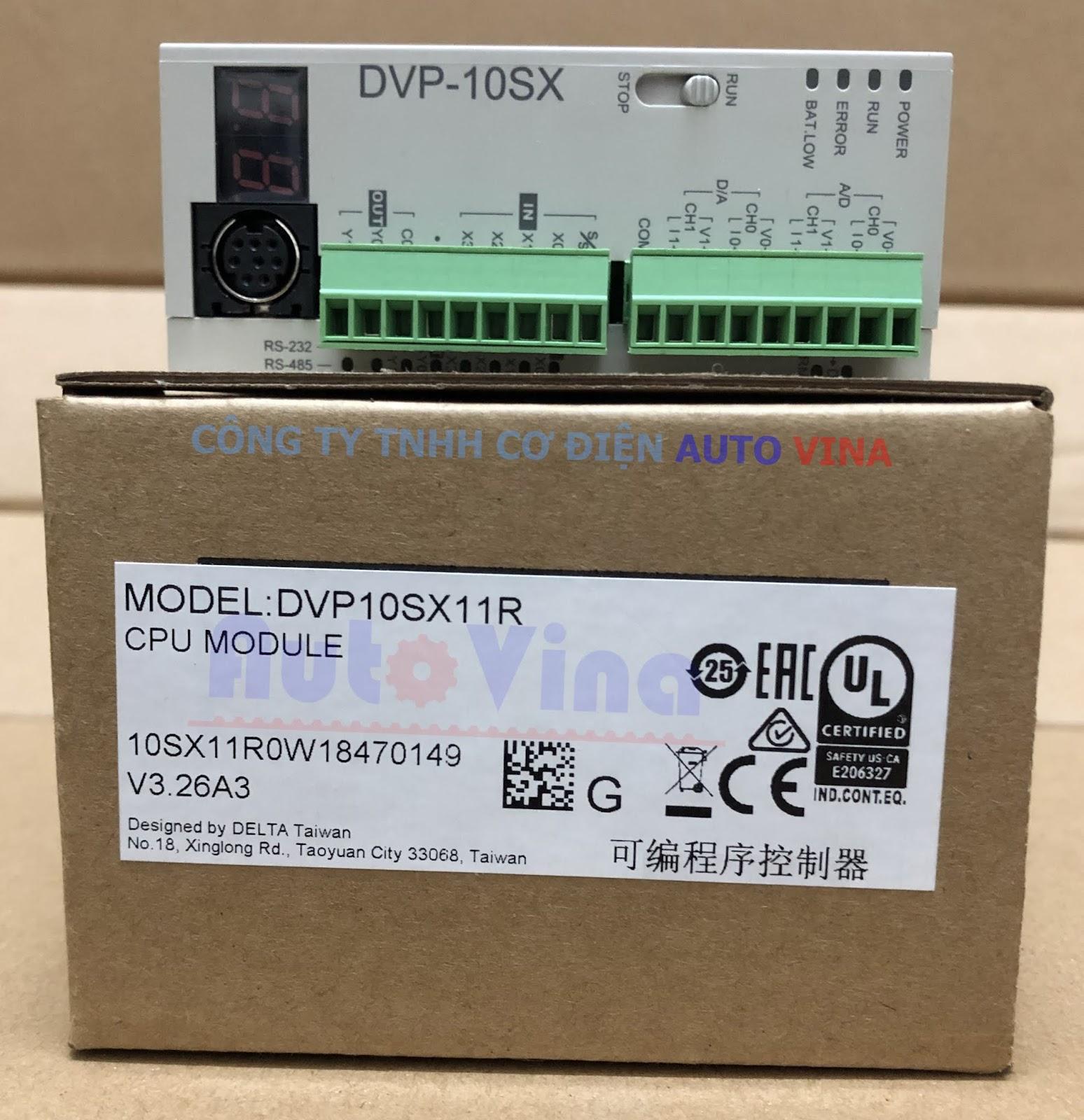 Đại lý bán PLC Delta DVP10SX11R tích hợp ngõ vào ra analog, hỗ trợ thời gian thực, hàng có sẵn