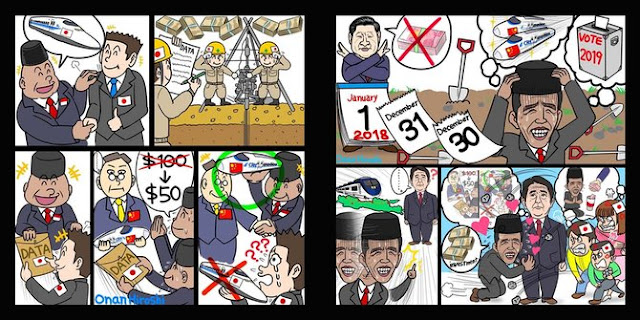 Sindir Jokowi 'mengemis' kereta cepat, komikus Jepang minta maaf