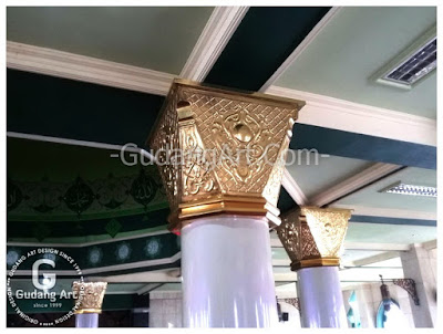 kerajinan replika tiang masjid nabawi