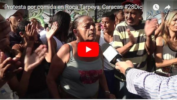 Roca Tarpeya Chavista ahora protesta contra el régimen