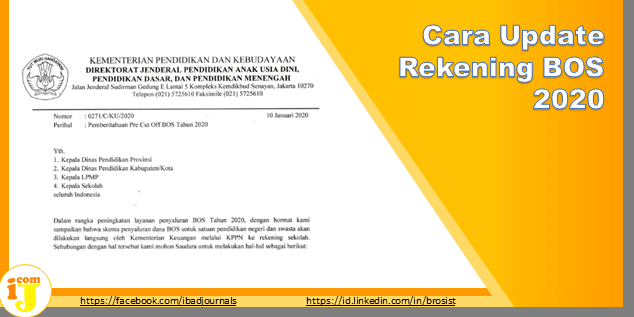 Cara Update Rekening BOS 2020 di bos.kemdikbud.go.id