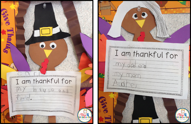 Thanksgiving writing craft- What I am thankful for