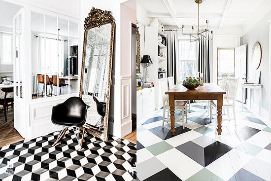 inspirasi ide desain keramik lantai rumah minimalis