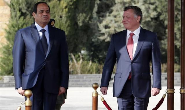 El rey Abdullah y Al-Sisi (Reuters)