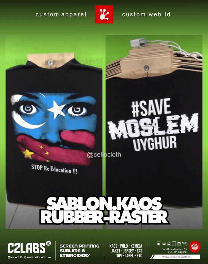 Sablon Kaos Rubber Raster Separasi - CMYK Sablon
