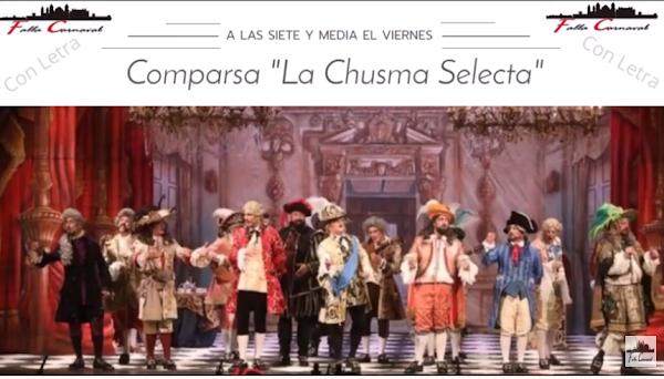 """😱Pasodoble """"A las siete y media"""". Comparsa 💥La Chusma Selecta💥 (2020) con Letra"""