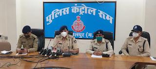 विगत 2 माह में असामाजिक तत्वों के विरूद्ध जबलपुर पुलिस द्वारा की गयी प्रभावी कार्यवाही