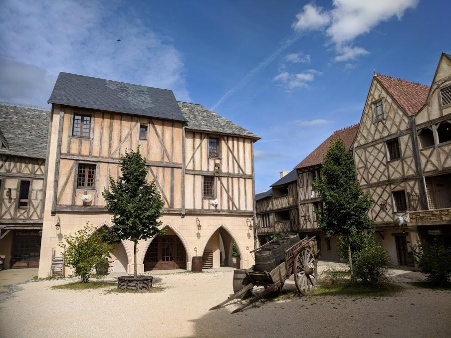Puy du Fou Theme Park, France - La Citadelle Hotel Courtyard
