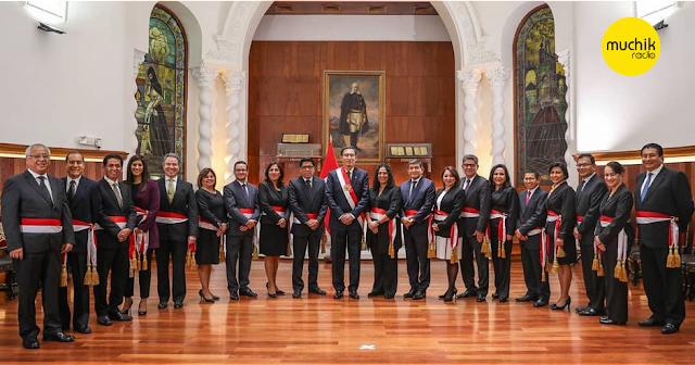 Nuevo gabinete ministerial de Vicente Zeballos