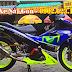 Sơn mâm xe máy màu xanh dạ quang cực đẹp
