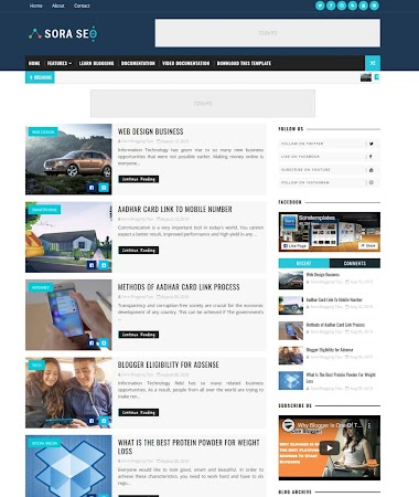 Sora Seo Blogger Template Free Blogger Template  Without Copyright footer Credit