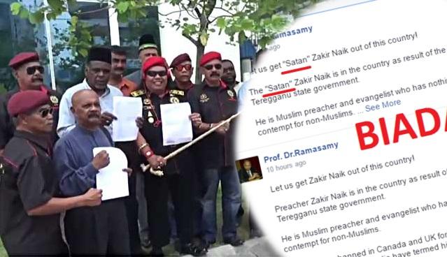 Hina Zakir Naik 'Syaitan, NGO Buat Laporan Polis Terhadap Ramasamy