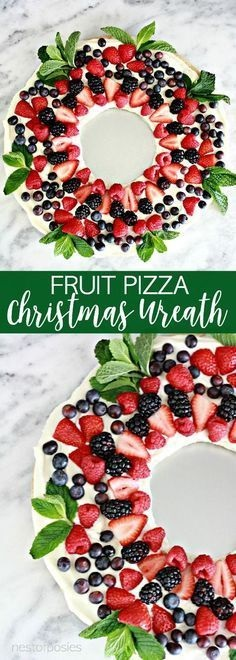 Christmas Wreath Fruit Pizza