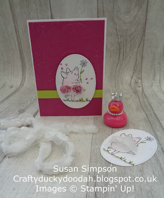 Stampin' Up! UK Independent  Demonstrator Susan Simpson, Craftyduckydoodah!, This Little Piggy, June 2017 Coffee & Cards Project, Supplies available 24/7 from my online store,