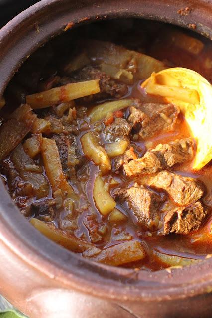 curry de goa aux joues de boeuf et radis blanc