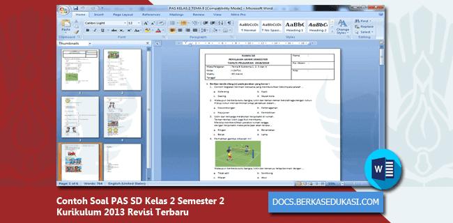 Contoh Soal PAS SD Kelas 2 Semester 2 Kurikulum 2013 Revisi 2019-2020 Dilengkapi Kunci Jawaban