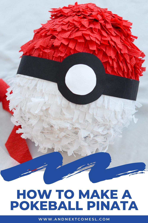 Looking for Pokemon pinata ideas? Here's how to make a DIY pokeball pinata