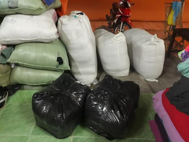 ADAMIS giao 150Kg Vải Nỉ Áo Khoác ra chành xe Biên Hòa cho Xưởng May Tâm tại Tây Ninh