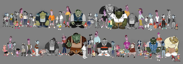 Character Lineup Concept Artwork from Pixar Onward
