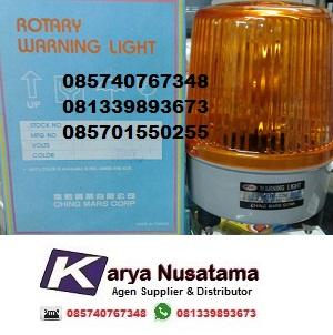Jual Lampu Pabrik Rotary Warning Light Kuning 220V di Bandung