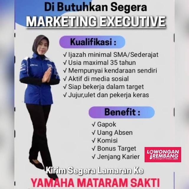 Lowongan Kerja Marketing Executive Dealer Yamaha Mataram Sakti Rembang