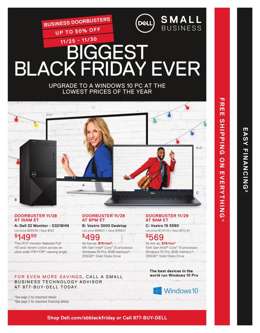 Dell Small Business Black Friday 2019