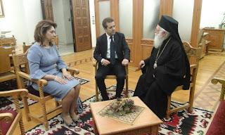 Συνάντηση του Προέδρου του Διεθνές Ιδρύματος Μ. Αλεξάνδρου με τον Αρχιεπίσκοπο Τιράνων-Δυρραχίου.