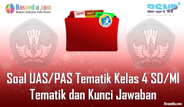 Kumpulan Soal UAS/PAS Tematik Kelas 4 SD/MI Tema 1, 2, 3, 4, 5, 6, 7, 8 dan 9 dan Kunci Jawaban