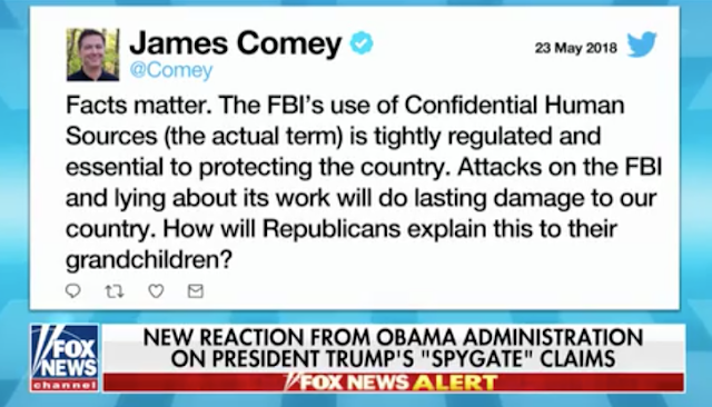 Comey Responds to Trump's 'Spygate' Claims: 'How Will Republicans Explain This to Their Grandchildren?'