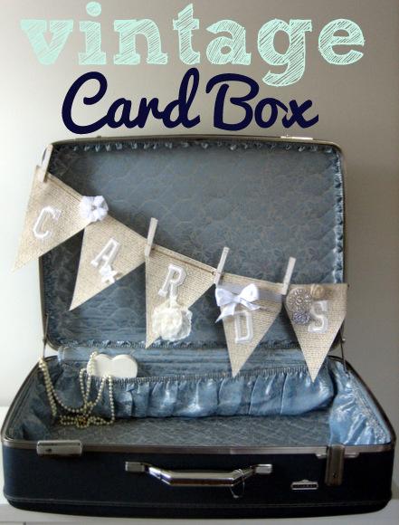 Vintage Suitcase turned Wedding Card Box DIY Playbook – Making a Card Box for Wedding