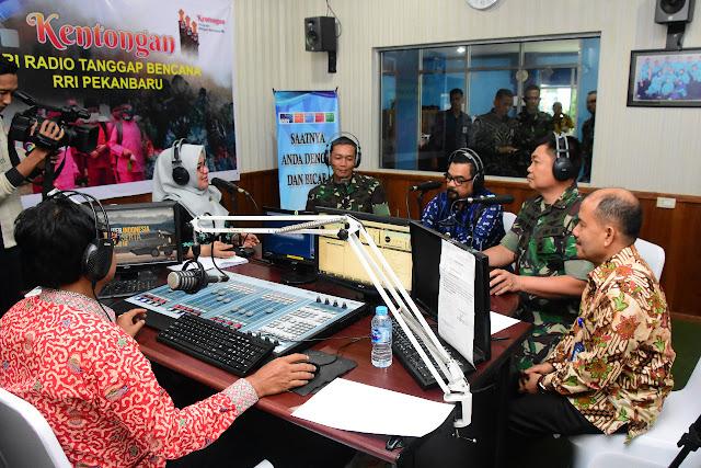 Dialog Interaktif HUT Ke-74 TNI Di RRI Pekanbaru