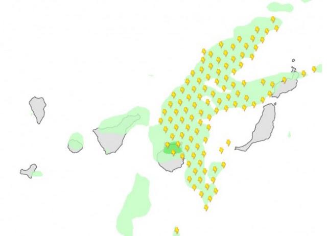 Tormenta eléctrica se espera para mañana jueves, 6 de octubre en Canarias