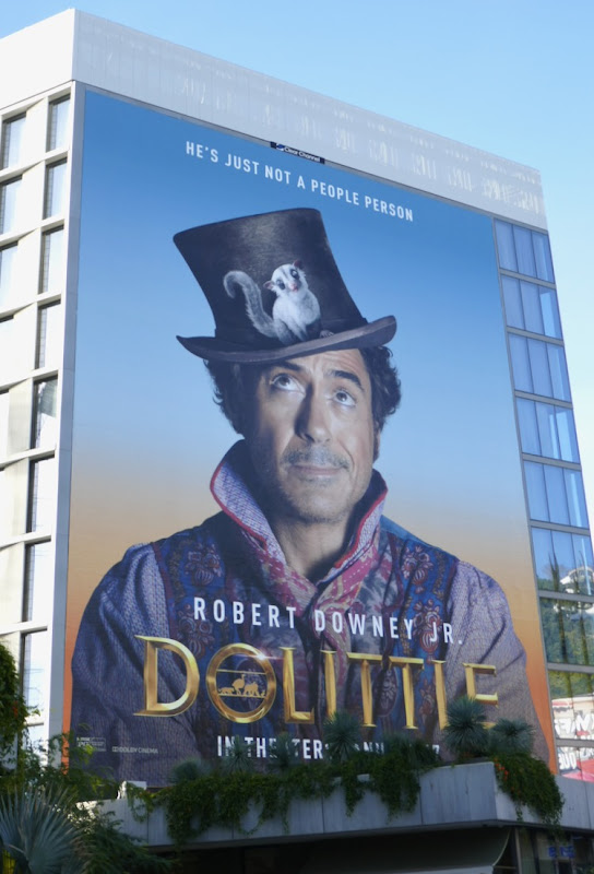 Robert Downey Jr Dolittle movie billboard