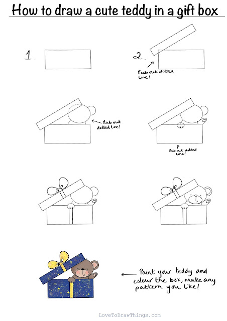 Easy Christmas drawings. Step by step easy drawing
