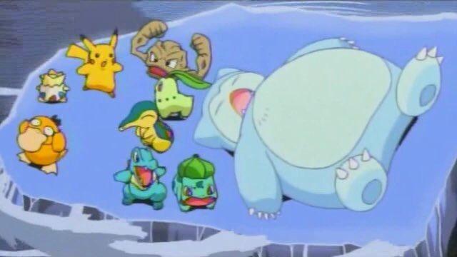 Snorlax de Neve Anime Pokémon