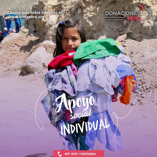 Apoyo social individual - Donaciones - Dona
